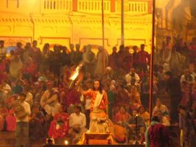 Puja at the Ganga