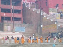 Surya Namaskara at the Ganga