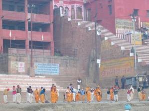 Surya Namaskara at the Ganga